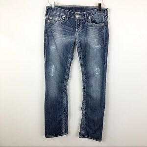 True Religion Section Straight Distressed Jeans